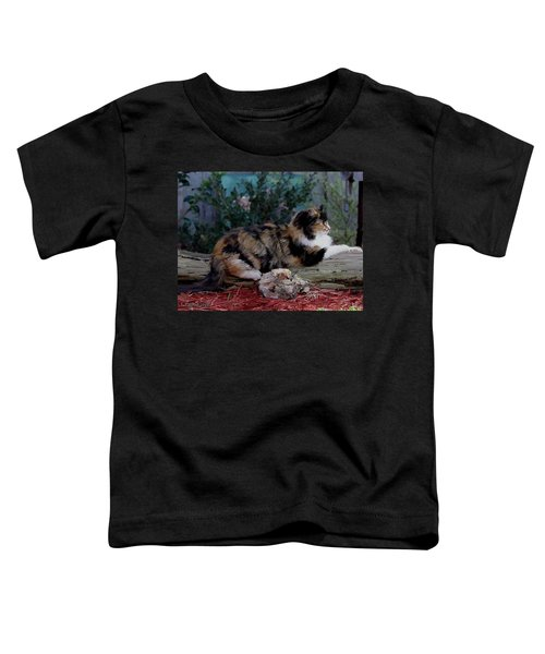 Resting Calico Cat Toddler T-Shirt