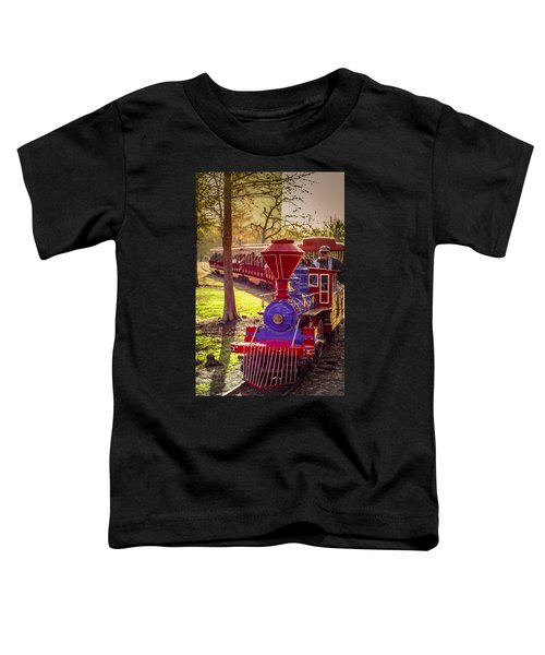 Riding Out Of The Sunset On The Hermann Park Train Toddler T-Shirt
