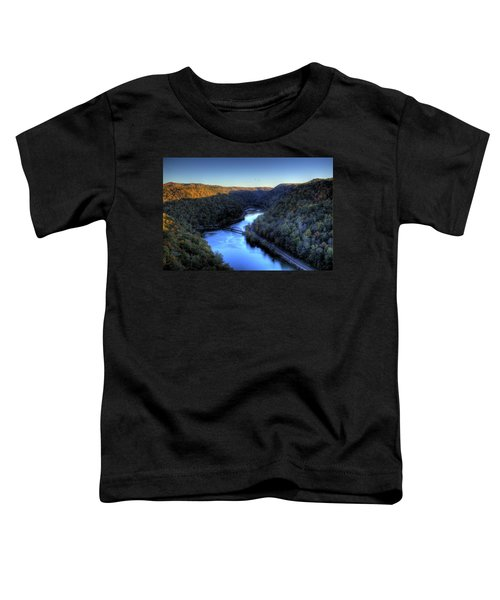 Toddler T-Shirt featuring the photograph River Cut Through The Valley by Jonny D
