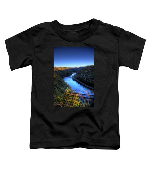 Toddler T-Shirt featuring the photograph River Through A Valley by Jonny D