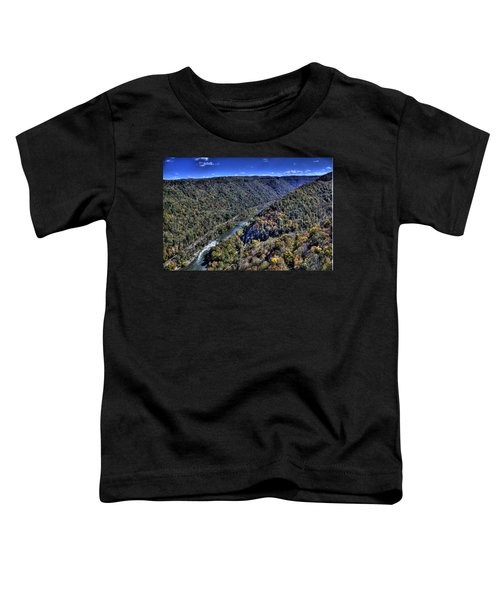 Toddler T-Shirt featuring the photograph River Through The Hills by Jonny D