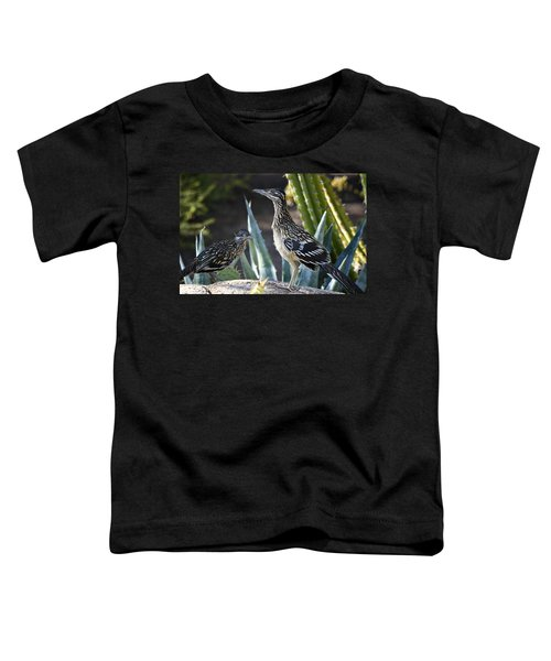 Roadrunners At Play  Toddler T-Shirt by Saija  Lehtonen