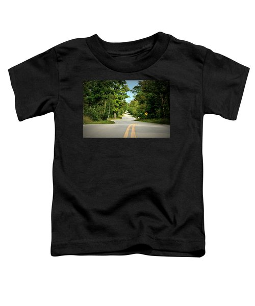 Toddler T-Shirt featuring the photograph Roadway Slalom by Andrea Platt