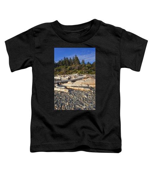 Rocky Beach And Driftwood Toddler T-Shirt