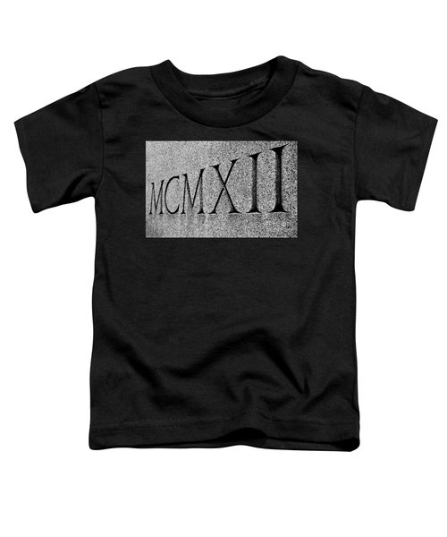 Roman Numerals Carved In Stone Toddler T-Shirt