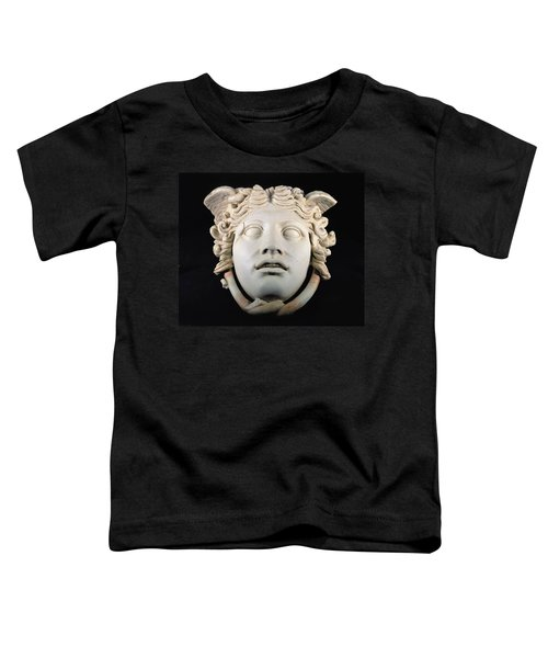Rondanini Medusa, Copy Of A 5th Century Bc Greek Marble Original, Roman Plaster Toddler T-Shirt by .