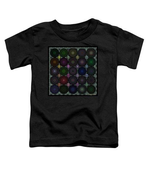 Rose Window Kaleidoscope Quilt Toddler T-Shirt