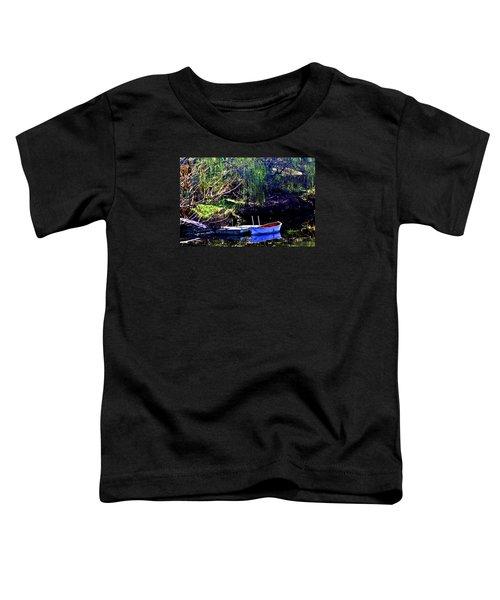 Row Boat At Dock Toddler T-Shirt