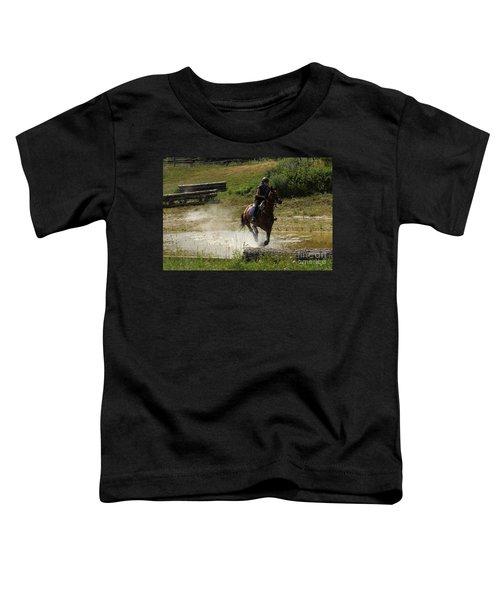 Running Thru Water  Toddler T-Shirt