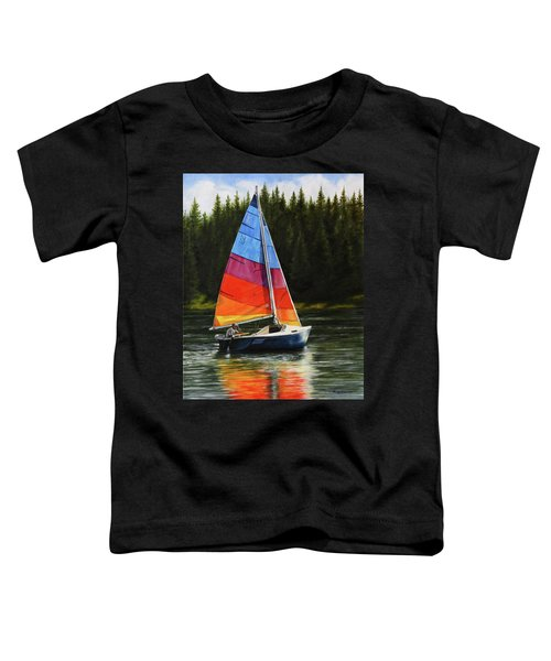 Sailing On Flathead Toddler T-Shirt