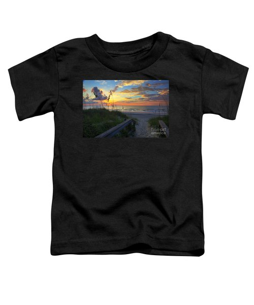 Sand Dunes On The Seashore At Sunrise - Carolina Beach Nc Toddler T-Shirt