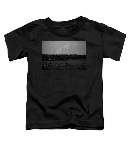 Sand Hill Cranes With Nebraska Thunderstorm Toddler T-Shirt