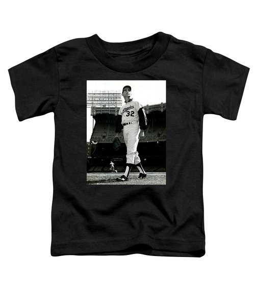 Sandy Koufax Vintage Baseball Poster Toddler T-Shirt