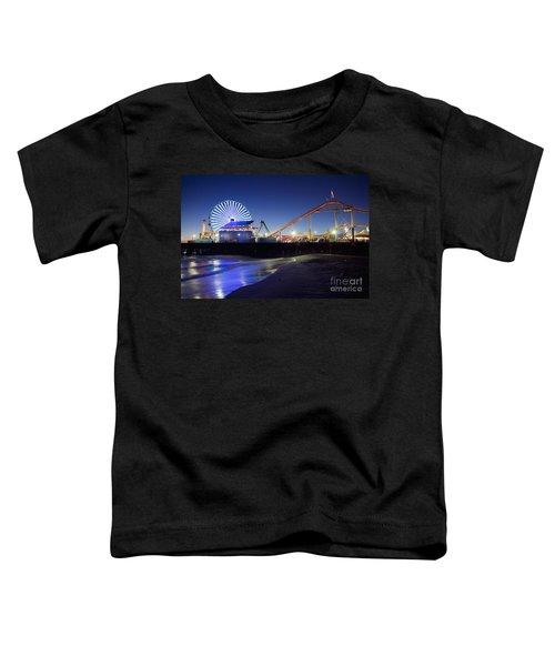 Santa Monica Pier At Night Toddler T-Shirt