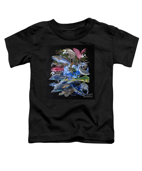 Save Our Seas In008 Toddler T-Shirt by Carey Chen
