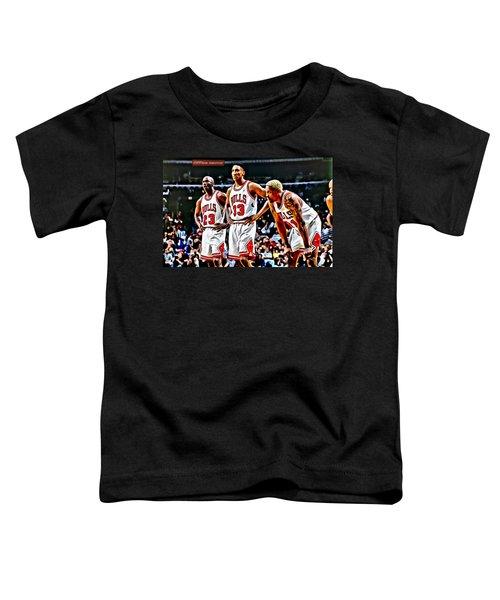 Scottie Pippen With Michael Jordan And Dennis Rodman Toddler T-Shirt