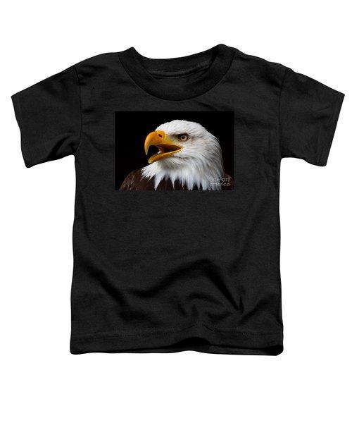 Screaming Bald Eagle Toddler T-Shirt