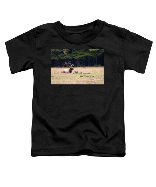 Scripture Photo With Elk Sitting Toddler T-Shirt