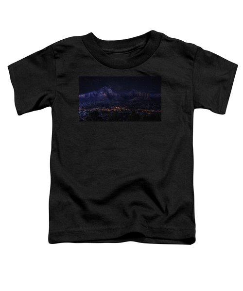 Sedona By Night Toddler T-Shirt by Lynn Geoffroy