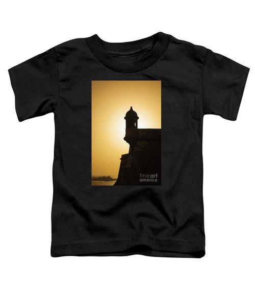 Sentry Box At Sunset At El Morro Fortress In Old San Juan Toddler T-Shirt
