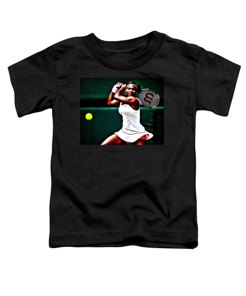 Serena Williams 3a Toddler T-Shirt by Brian Reaves