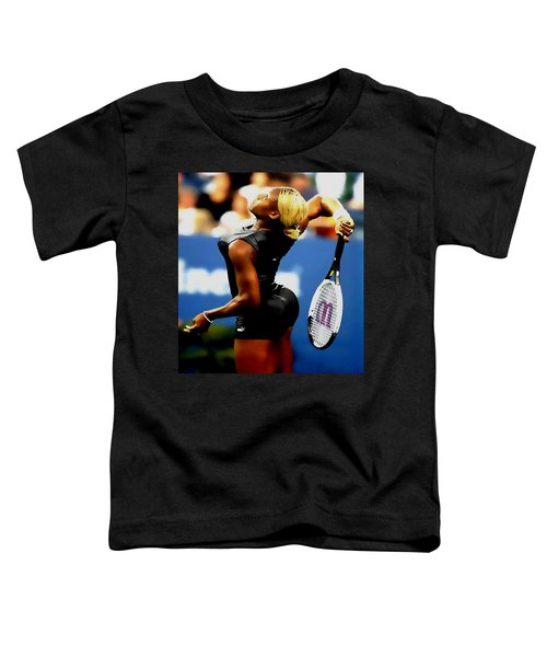Serena Williams Catsuit II Toddler T-Shirt by Brian Reaves