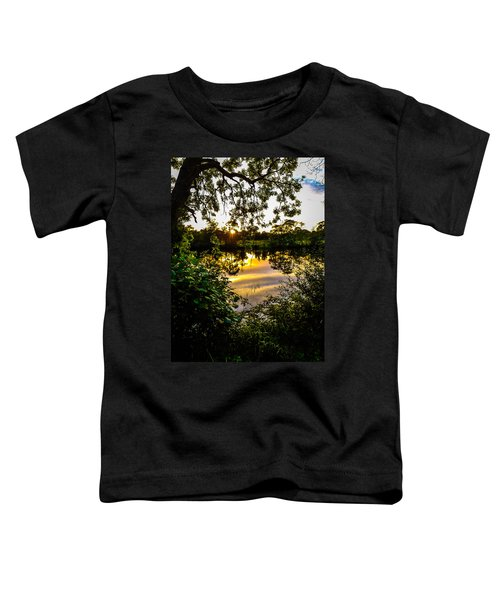 Toddler T-Shirt featuring the photograph Shannon River Sunset At Roosky by James Truett