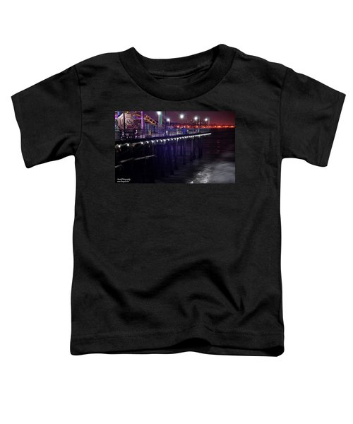 Side Of The Pier - Santa Monica Toddler T-Shirt