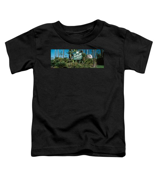 Signboard Of A Hotel, Beverly Hills Toddler T-Shirt by Panoramic Images