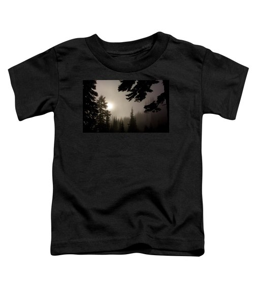 Silhouettes Of Trees On Mt Rainier Toddler T-Shirt