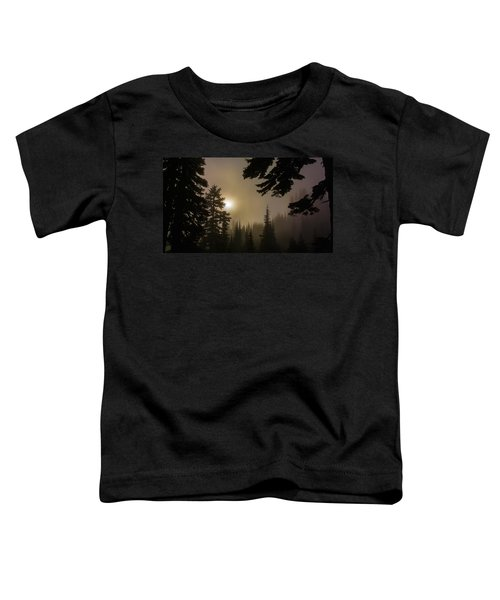 Silhouettes Of Trees On Mt Rainier II Toddler T-Shirt