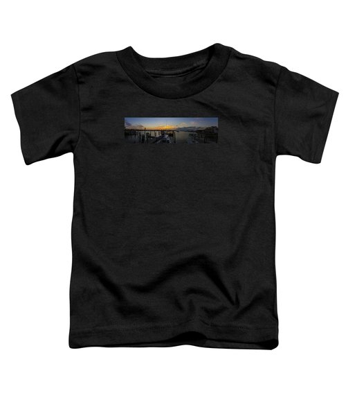Silver Lake Sunset Panorama Toddler T-Shirt
