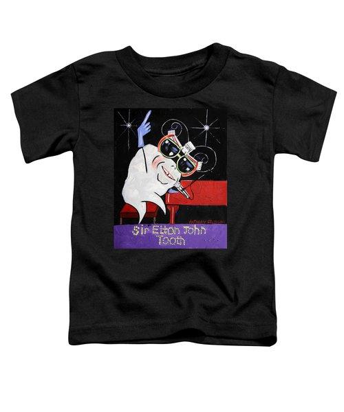 Sir Elton John Tooth  Toddler T-Shirt by Anthony Falbo