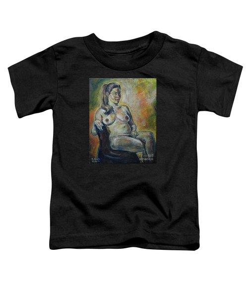 Sitting Nude Toddler T-Shirt