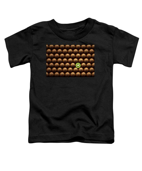 Sliced Kiwi Between Group Toddler T-Shirt by Johan Swanepoel