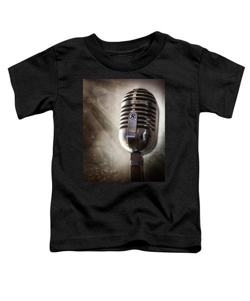 Smoky Vintage Microphone Toddler T-Shirt
