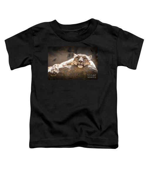 Snow Leopard Relaxing Toddler T-Shirt