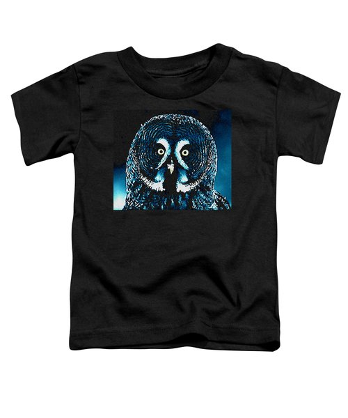 Toddler T-Shirt featuring the painting Snow Owl by Colette V Hera  Guggenheim