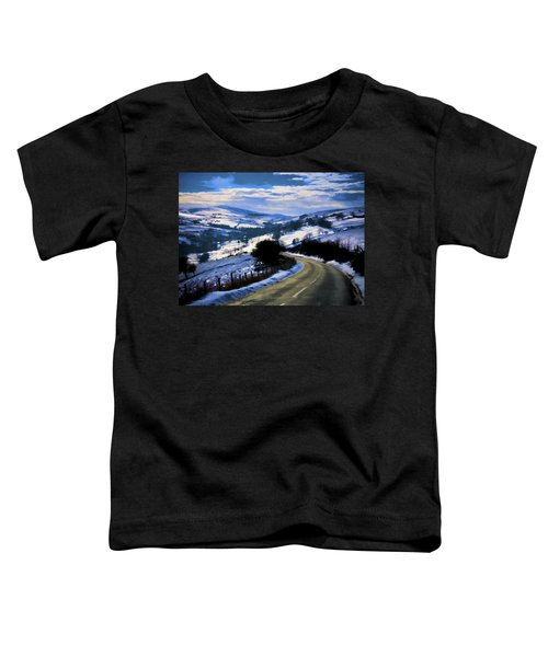 Snowy Scene And Rural Road Toddler T-Shirt
