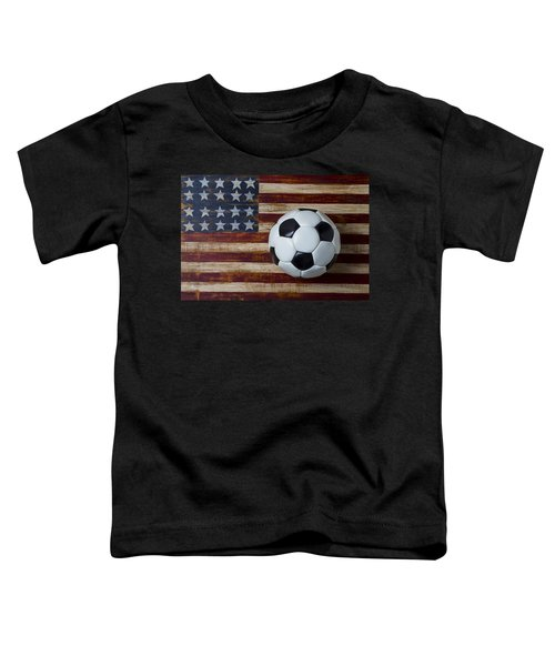 Soccer Ball And Stars And Stripes Toddler T-Shirt