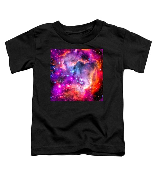 Space Image Small Magellanic Cloud Smc Galaxy Toddler T-Shirt by Matthias Hauser