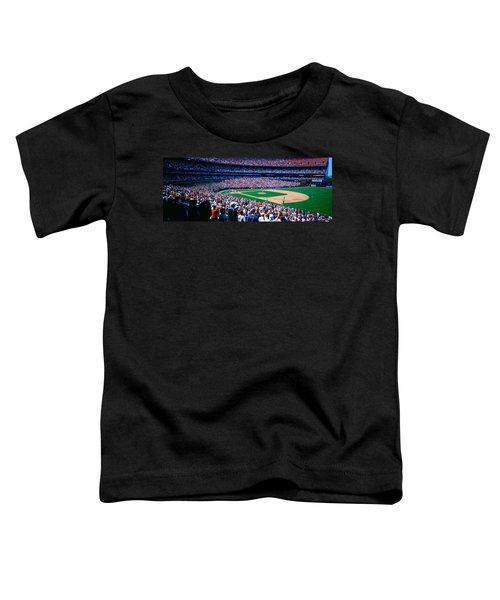 Spectators In A Baseball Stadium, Shea Toddler T-Shirt