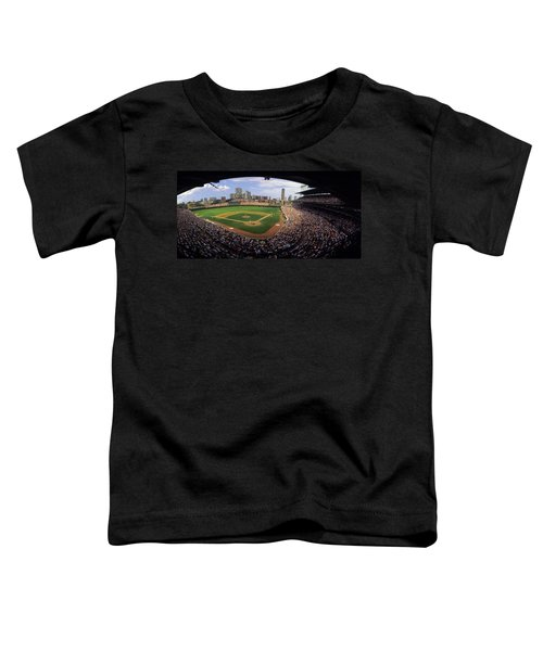 Spectators In A Stadium, Wrigley Field Toddler T-Shirt by Panoramic Images