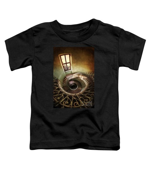 Toddler T-Shirt featuring the photograph Spiral Staircaise With A Window by Jaroslaw Blaminsky