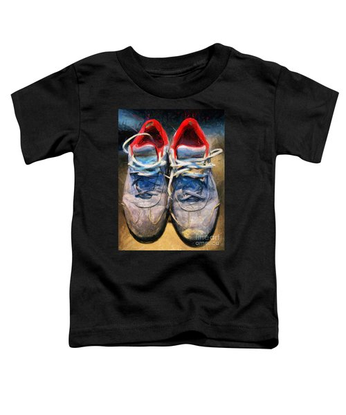 Sport Shoes Drawing Toddler T-Shirt