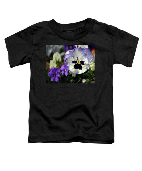 Spring Pansy Flower Toddler T-Shirt