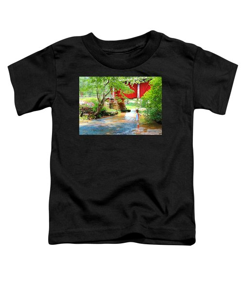 Standing By The River At Campbell's Bridge Toddler T-Shirt