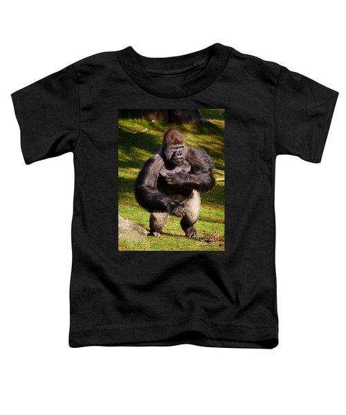 Standing Silverback Gorilla Toddler T-Shirt