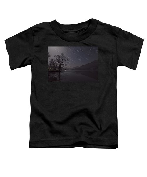 Star Trails Over Lake Toddler T-Shirt