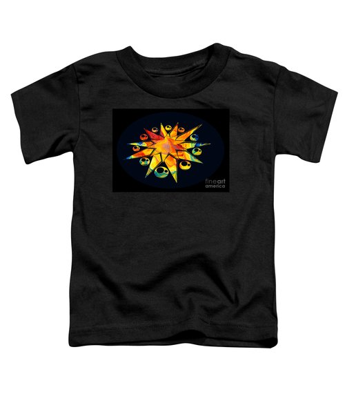 Staring Into Eternity Abstract Stars And Circles Toddler T-Shirt